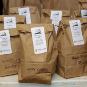 care packages for homeless families prepared by the AGB Foundation