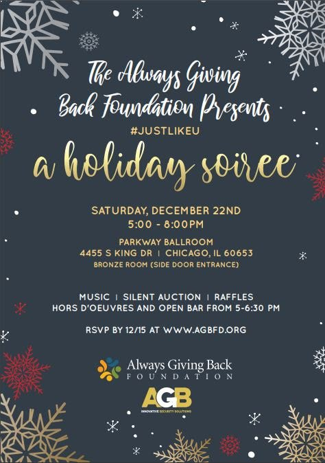 AGB Holiday Benefit Dec. 22, 2018 invitation